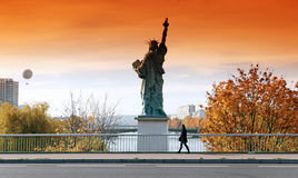 Statue of Liberty in Paris Royalty Free Stock Photos