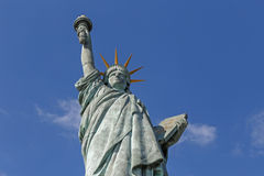 Statue of Liberty in Paris. Statue of Liberty on the island Cygnes in Paris against blue sky Royalty Free Stock Image