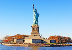 Statue of Liberty Park. The Statue of Liberty island in New York City, US Royalty Free Stock Image