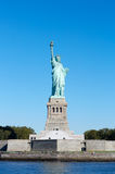 Statue of Liberty with pedestal and Liberty Island in New York Royalty Free Stock Photos