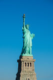 Statue of Liberty at perfect weather conditions blue sky copper Stock Photography