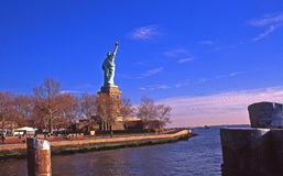 Statue of Liberty from the Pier Stock Photo