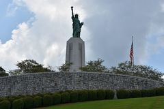 Statue of Liberty replica at Liberty Park in Vestavia Hills in Alabama royalty free stock photos