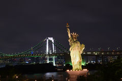 Statue of Liberty replica in Tokyo, Japan. Statue of Liberty replica in Odaiba island Tokyo, Japan Royalty Free Stock Photography