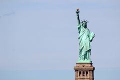 Statue of Liberty sculpture, on Liberty Island in the middle of Stock Photos