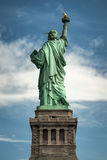 Statue of liberty seen from the back Royalty Free Stock Photography