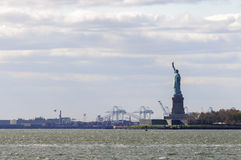 The Statue of Liberty seen from the side Stock Photos