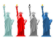 Statue of Liberty set. Colorful attraction in America. Color opt Royalty Free Stock Images