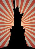 Statue of Liberty silhouette Royalty Free Stock Photography