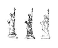 Statue Of Liberty sketch vector. Statue Of Liberty outline and sketch vector Royalty Free Stock Photos