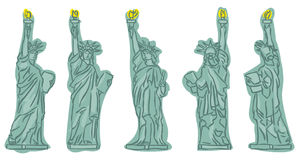 Statue of Liberty sketches. At different view angles Stock Photo