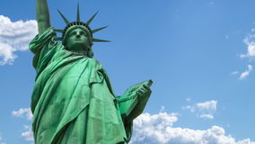Statue of Liberty in the sky stock video footage