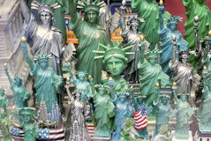 Statue of Liberty. Souvenirs of the Statue of Liberty for sale in New York City shop for tourists Royalty Free Stock Photography