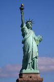 Statue of liberty on stand stock photo