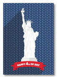 Statue of Liberty on stars background. Memorial Day in USA. Independence Day of United States. Holiday 4th of July. Symbol. Patriotic holiday poster of freedom Royalty Free Stock Image