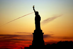 Statue of Liberty at sunset Royalty Free Stock Photo
