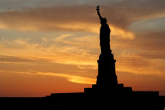 Statue of Liberty at sunset Stock Photography