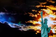 Statue of liberty at sunset American Symbol US. American Symbol US Statue of liberty at sunset, freedom, nyc, independence, sky, usa, city, landmark, travel stock photos