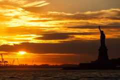Statue of Liberty Sunset Royalty Free Stock Photo