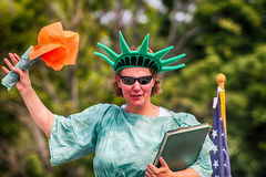 The statue of liberty. Taken in the 4th of July Parade Stock Photo