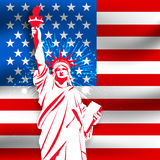 Statue of Liberty for 4th of July celebration. Royalty Free Stock Photos