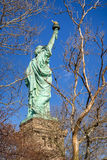 Statue of Liberty. Three quarter view from behind. New York City. Royalty Free Stock Photos