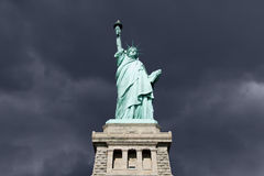 Statue of Liberty Thunderstorm Royalty Free Stock Photos