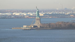 Statue of liberty time lapse stock footage