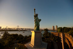 Statue of Liberty in Tokyo. Tokyo's Statue of Liberty is not only tall exactly the same image and the United States (much smaller size of course), which is the Royalty Free Stock Photography