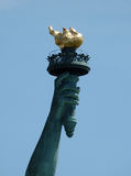 Statue of liberty torch. Close up of the Statue of Liberty torch New York Royalty Free Stock Photography