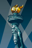 Statue of Liberty Torch. Royalty Free Stock Photography