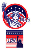 Statue of liberty USA. Icon illustration style Stock Photography