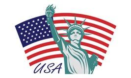 Statue of liberty USA. Icon illustration style Stock Photos