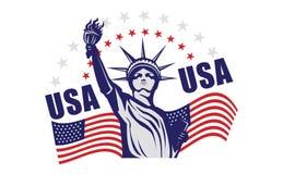Statue of liberty USA. Icon illustration style Royalty Free Stock Image