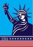 Statue of liberty USA. Illustration style Stock Photo