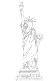 The statue of liberty. Vector draw on white background the statue of liberty Stock Photography