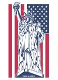 Statue of Liberty Vector Illustration Royalty Free Stock Photo