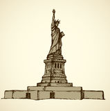 Statue of Liberty. Vector sketch Stock Images