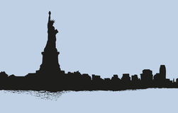 Statue of Liberty. Vector sketch Stock Photography