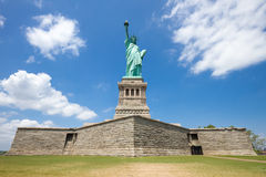 Statue of Liberty. View including pedestal and base, New York Stock Images