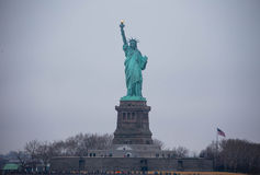 Statue of Liberty. View of Statue of Liberty from Staten Island Ferry, NYC, in winter Royalty Free Stock Photography