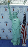Statue of Liberty with visitors ID at the Greater New York  Dental Meeting Stock Photography