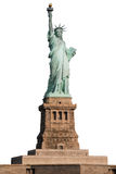 Statue of Liberty on white background Stock Photo
