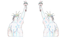 Statue of liberty with white background Stock Photos