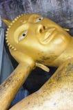 Statue of lie down Buddha at Wat Phra Phutthachai. Saraburi, Thailand royalty free stock photo