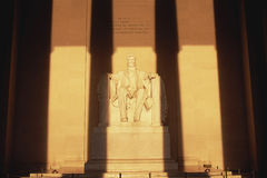 Statue of Lincoln at Lincoln Memorial Stock Photography