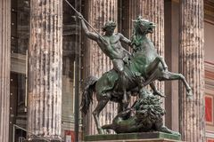 The statue, Lion-fighter - Old Museum Berlin Stock Photo