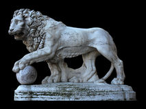 Statue of lion in Florence Stock Photos