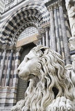 Statue of a lion, genoa Stock Photos