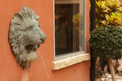 Statue of lion heads Royalty Free Stock Image